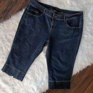 Venezia Lane Bryant 26 cropped Jeans capri VGUC